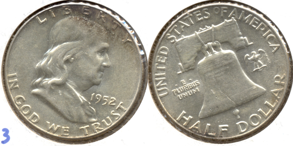 1952 Franklin Half Dollar AU-55 h