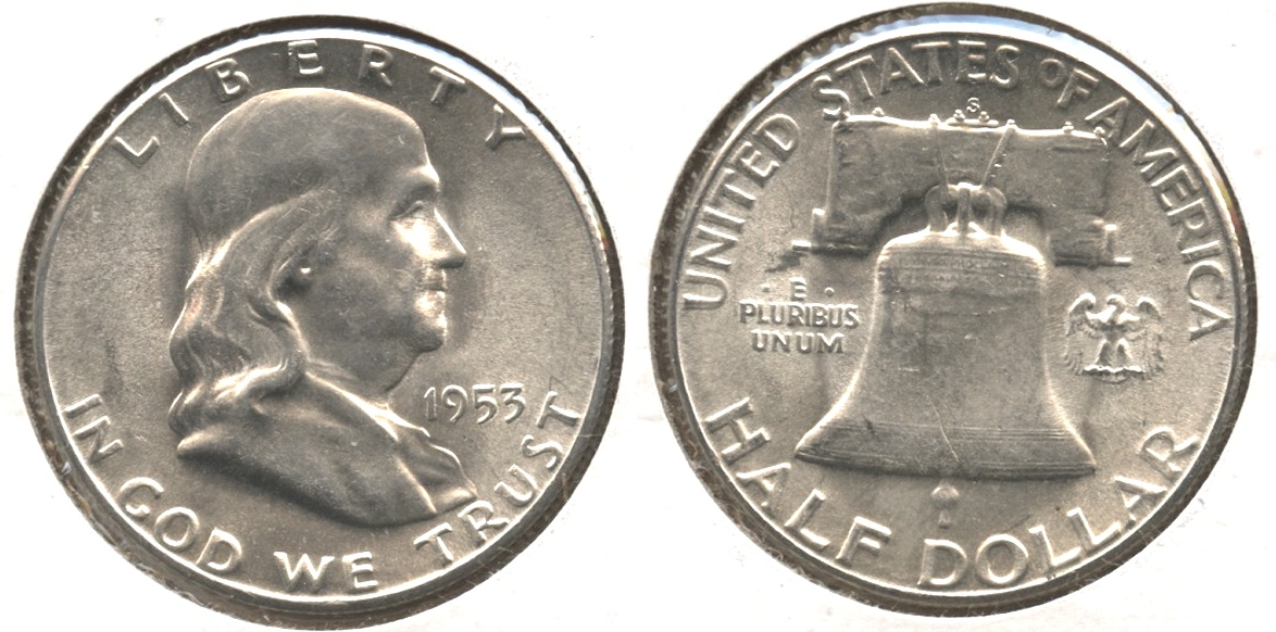 1953-S Franklin Half Dollar AU-55 #c
