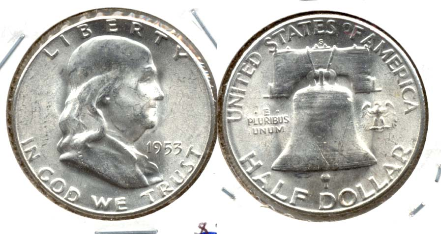 1953-S Franklin Half Dollar MS-60 d