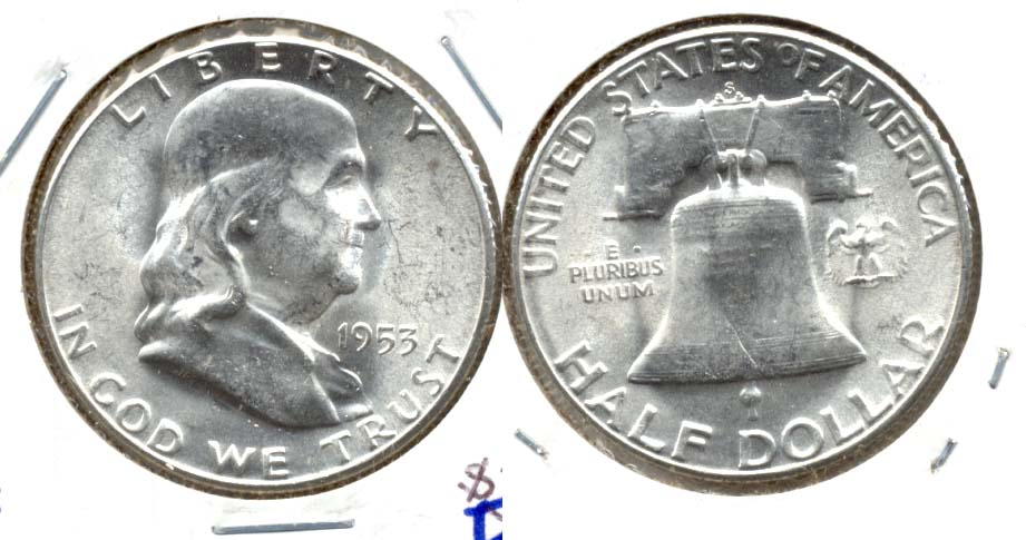 1953-S Franklin Half Dollar MS-60 e