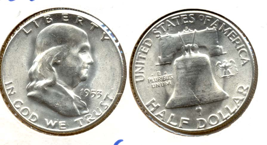 1953-S Franklin Half Dollar MS-64