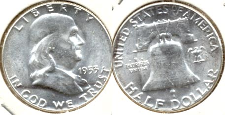 1953 Franklin Half Dollar MS-60 a