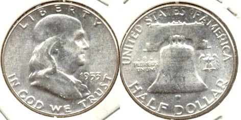 1953 Franklin Half Dollar MS-60 e