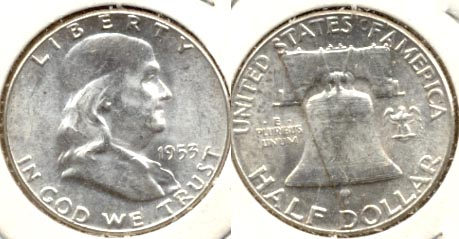 1953 Franklin Half Dollar MS-60 f