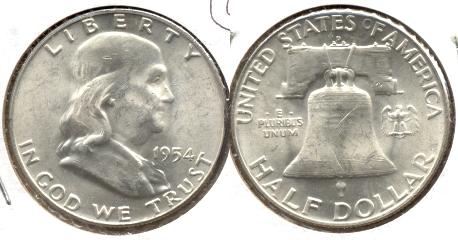 1954-D Franklin Half Dollar MS-60 a