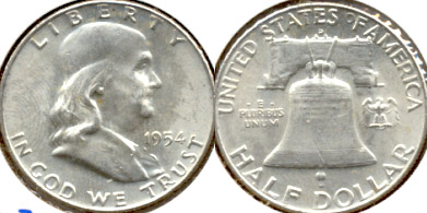 1954-D Franklin Half Dollar MS-63