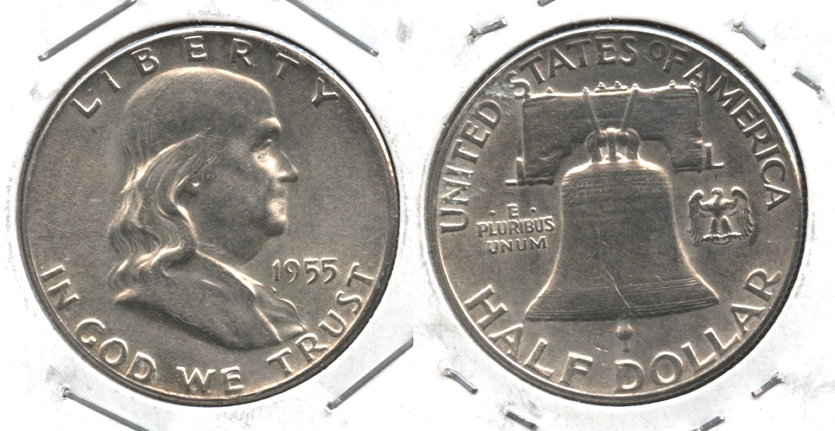 1955 Franklin Half Dollar AU-50