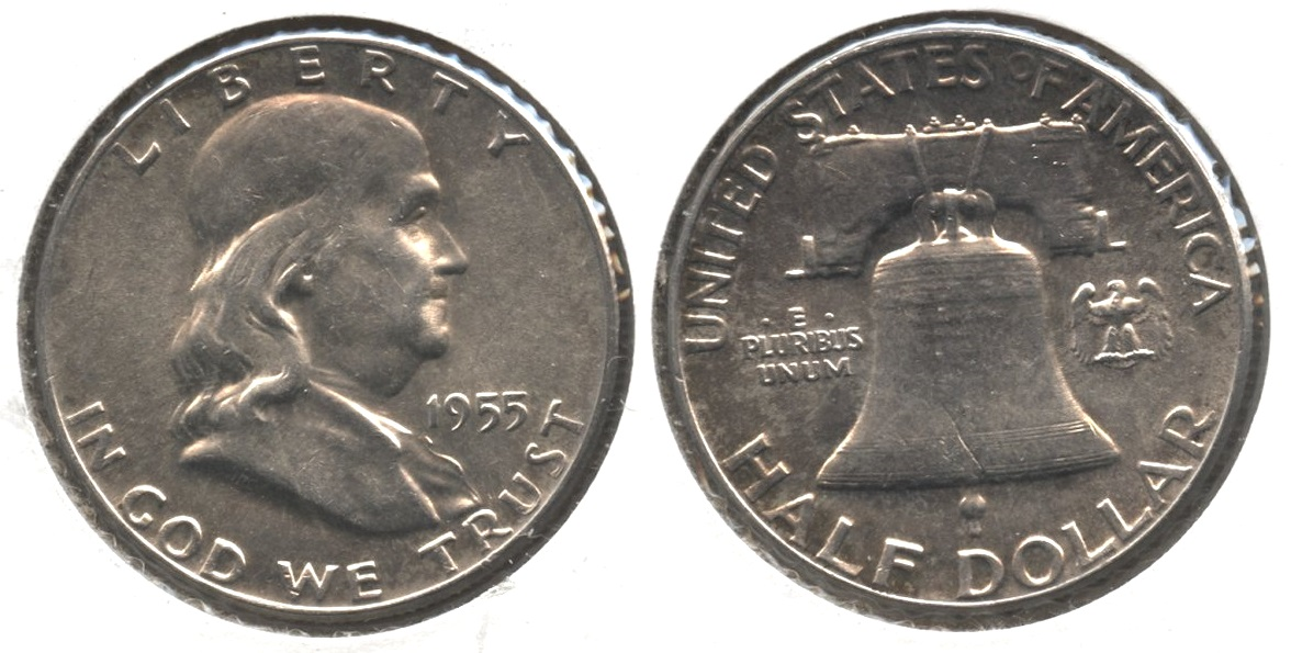 1955 Franklin Half Dollar AU-50 #a