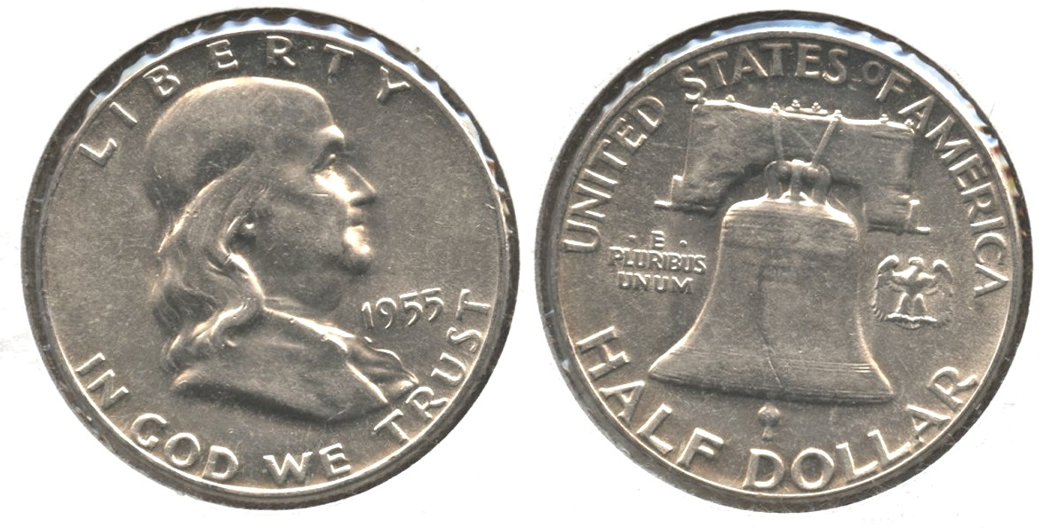 1955 Franklin Half Dollar AU-50 #b