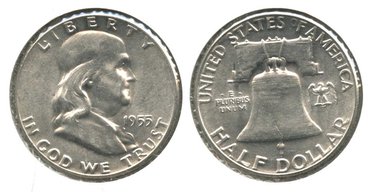 1955 Franklin Half Dollar AU-50 #d