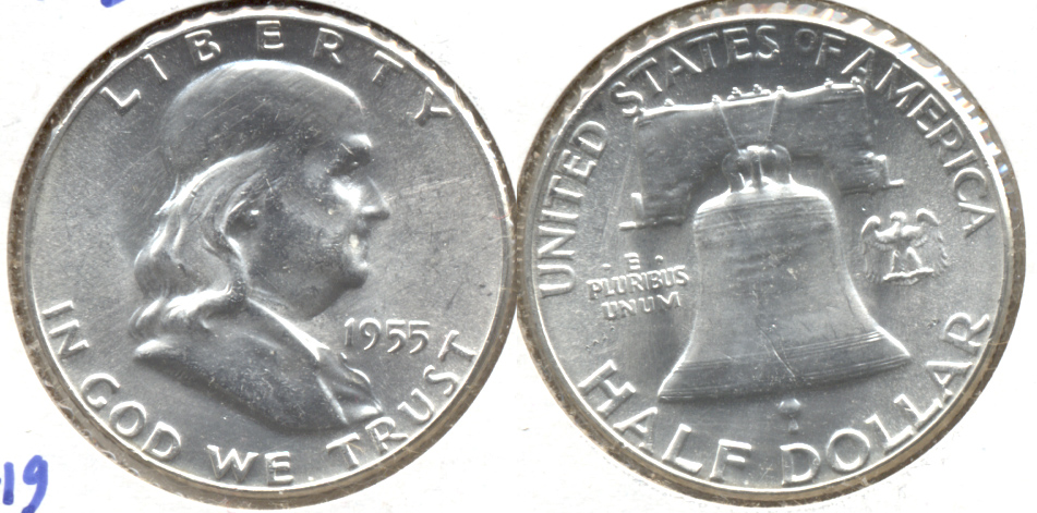 1955 Franklin Half Dollar MS-60