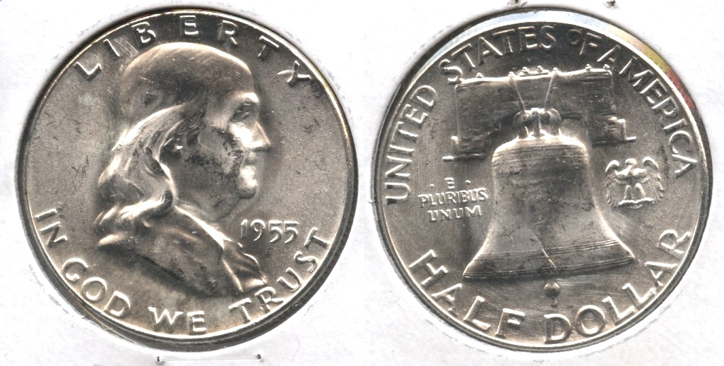 1955 Franklin Half Dollar MS-60 #c