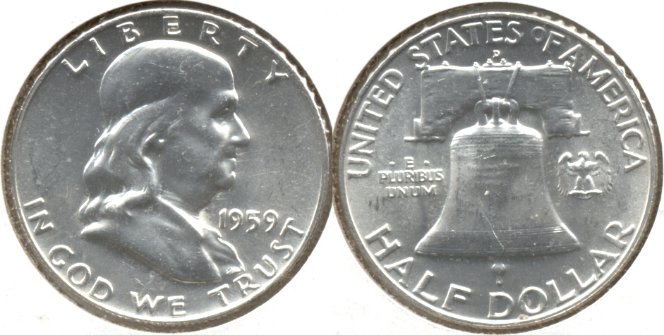 1959-D Franklin Half Dollar MS-63 b