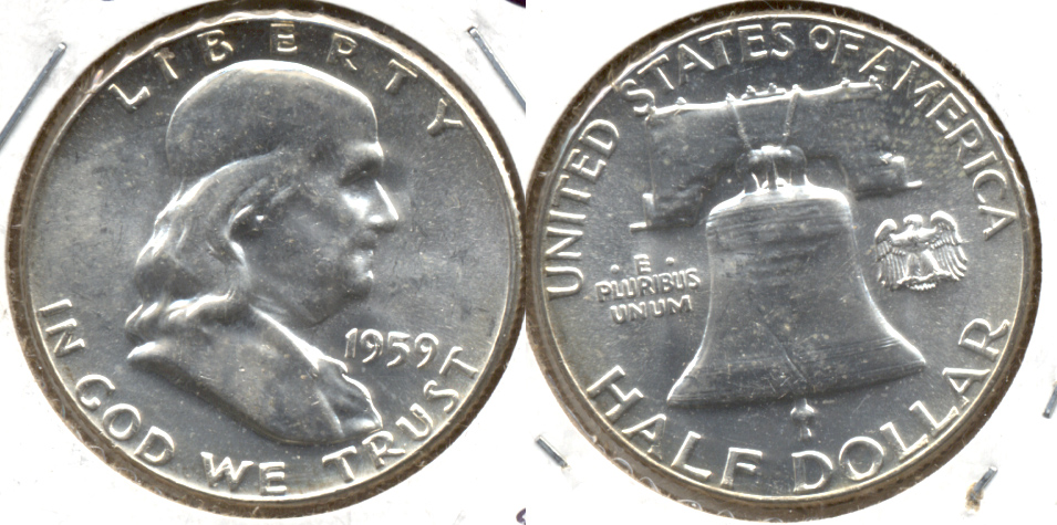 1959 Franklin Half Dollar MS-63