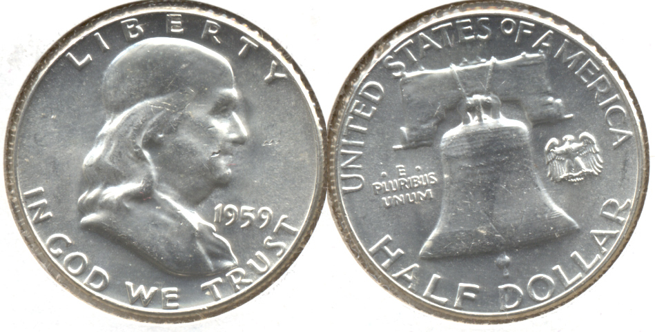 1959 Franklin Half Dollar MS-63 b