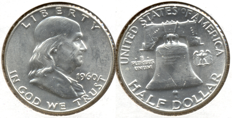1960 Franklin Half Dollar MS-60 a