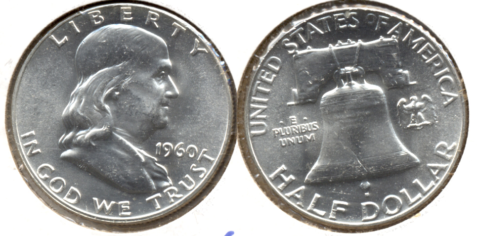 1960 Franklin Half Dollar MS-63 b