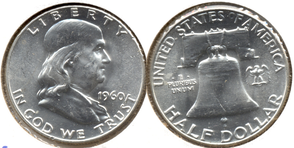 1960 Franklin Half Dollar MS-63 d