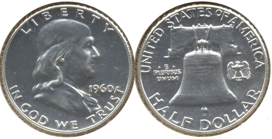 1960 Franklin Half Dollar Proof-65 a