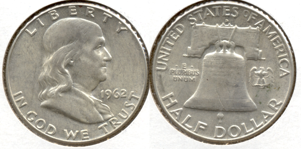 1962-D Franklin Half Dollar EF-40