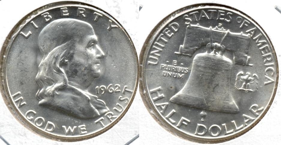 1962-D Franklin Half Dollar MS-60 g