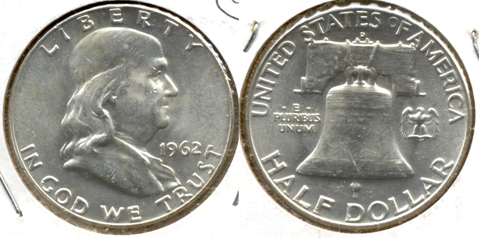 1962-D Franklin Half Dollar MS-60 k