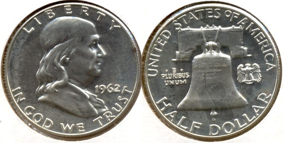 1962 Franklin Half Dollar Proof-63 f