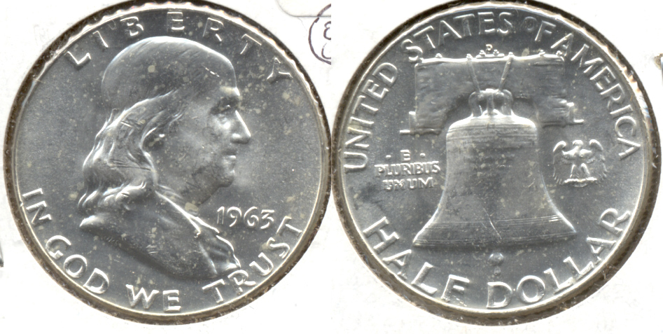 1963-D Franklin Half Dollar MS-60 c