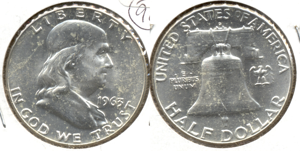 1963-D Franklin Half Dollar MS-60 g