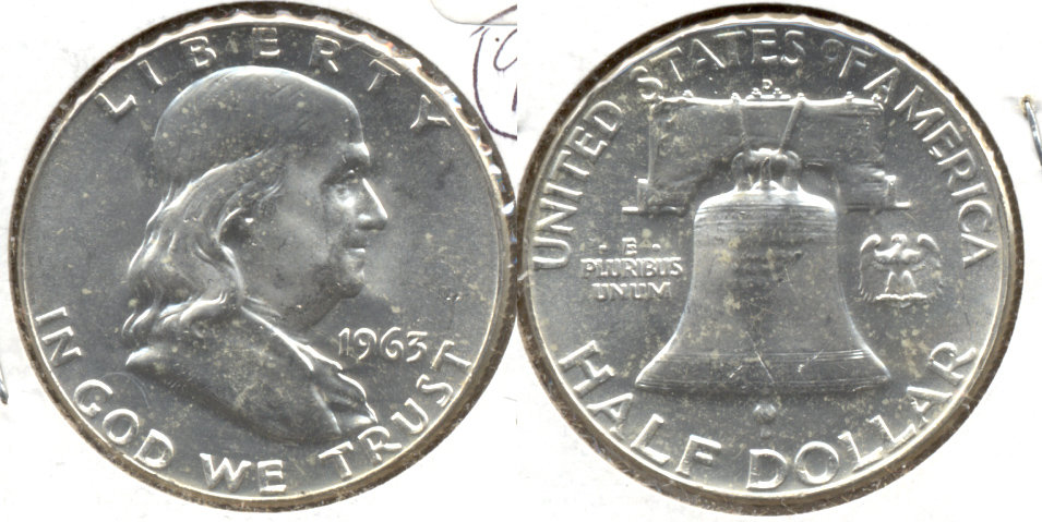 1963-D Franklin Half Dollar MS-60 k