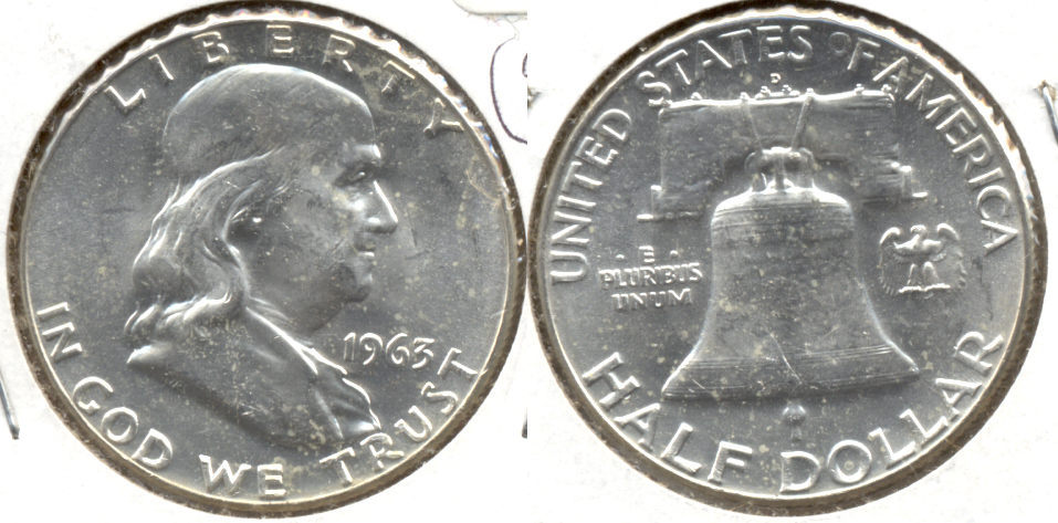 1963-D Franklin Half Dollar MS-60 o