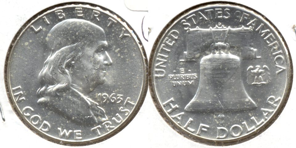 1963-D Franklin Half Dollar MS-60 q