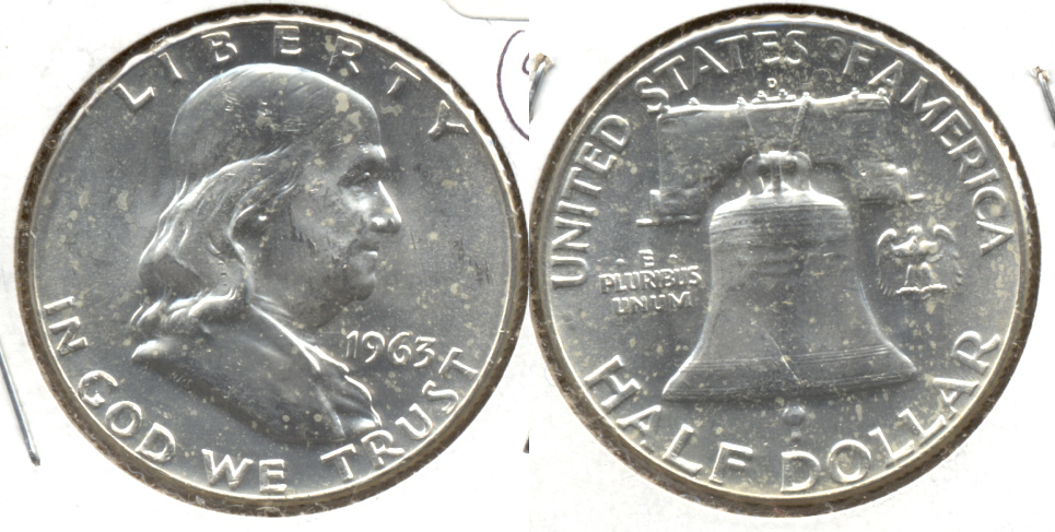 1963-D Franklin Half Dollar MS-60 u