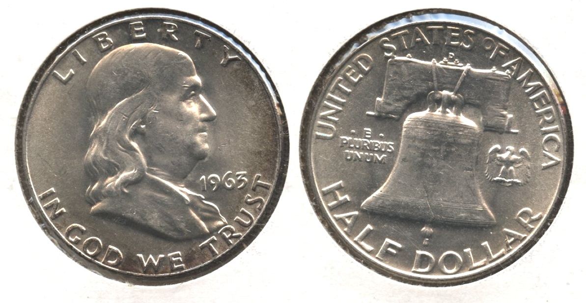 1963-D Franklin Half Dollar MS-60 #w