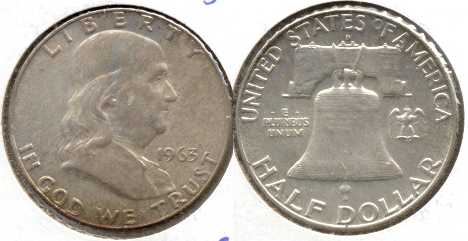 1963-D Franklin Half Dollar MS-63