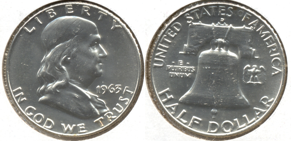 1963-D Franklin Half Dollar MS-63 c