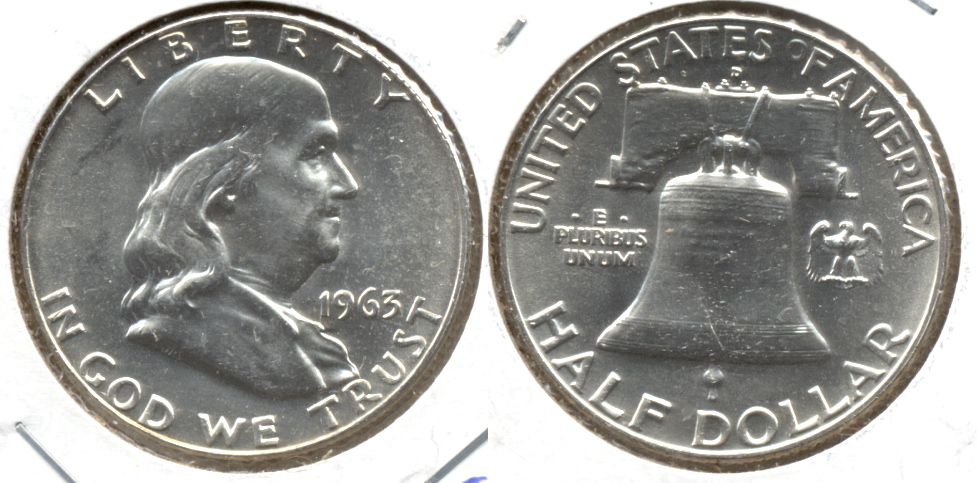 1963-D Franklin Half Dollar MS-63 e