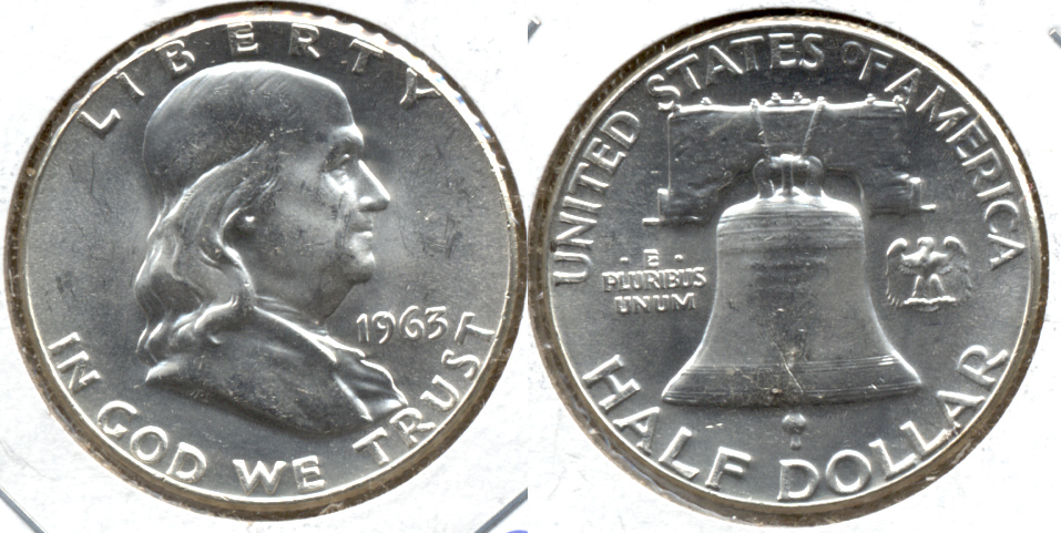 1963 Franklin Half Dollar MS-60
