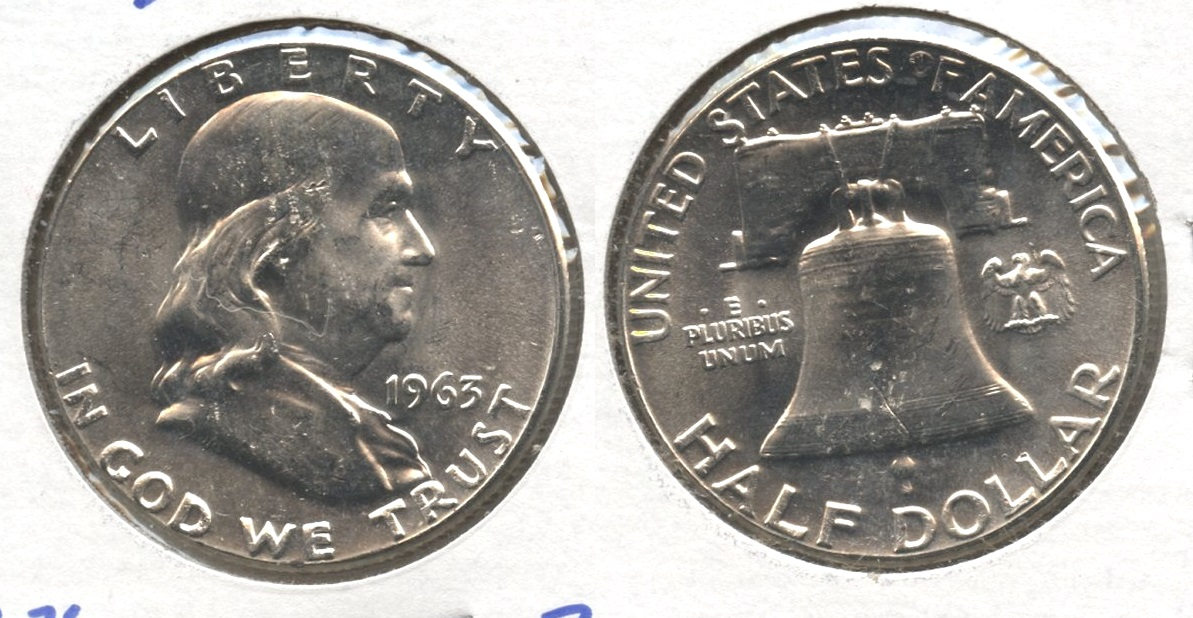 1963 Franklin Half Dollar MS-60 #a