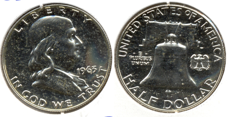 1963 Franklin Half Dollar Proof-60 c