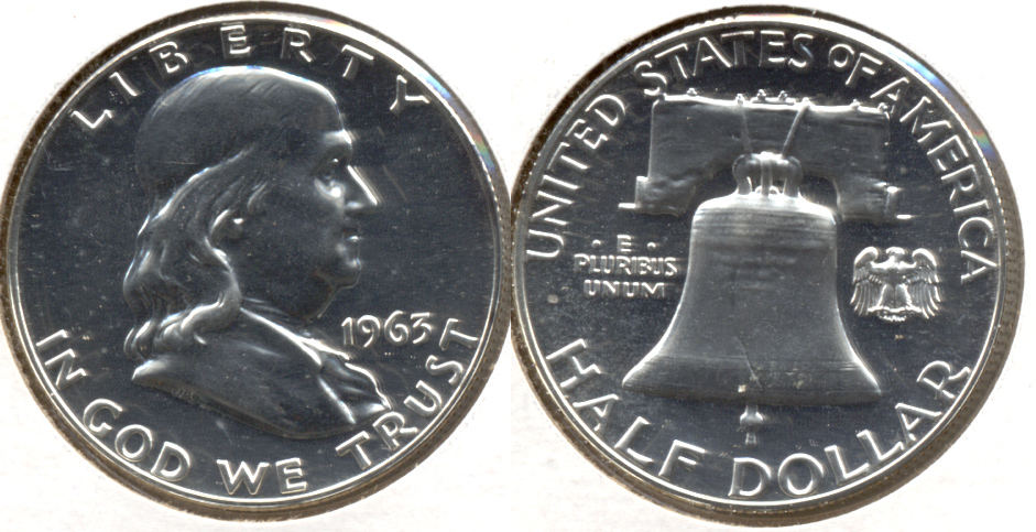 1963 Franklin Half Dollar Proof-63 c