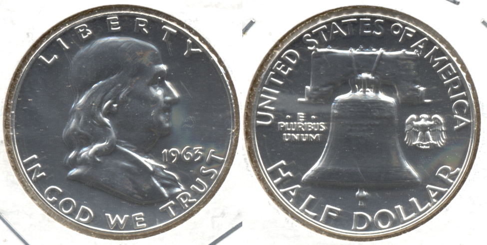 1963 Franklin Half Dollar Proof-65 d