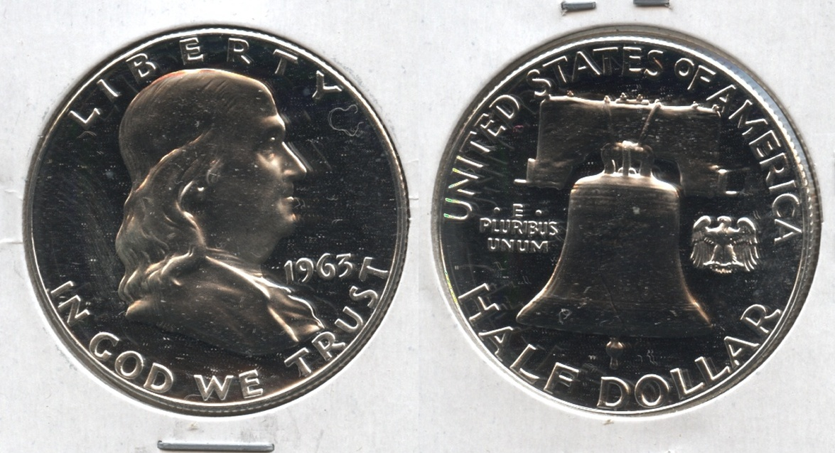 1963 Franklin Half Dollar Proof-65 #l