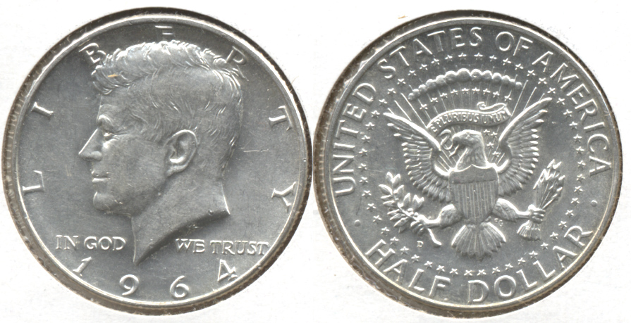 1964-D Kennedy Half Dollar Mint State