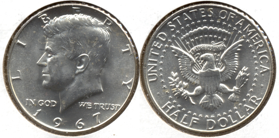 1967 Kennedy Half Dollar Mint State