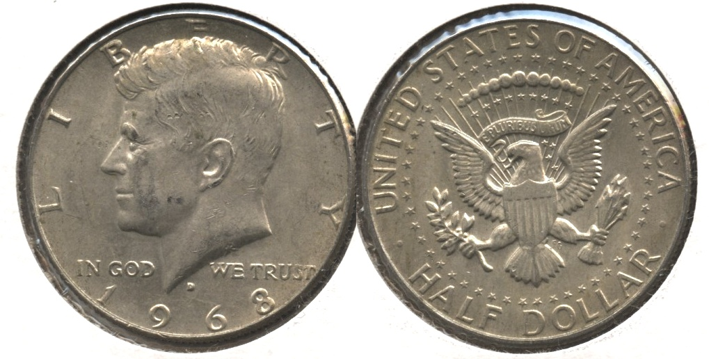 1968-D Kennedy Half Dollar VF-20 #a