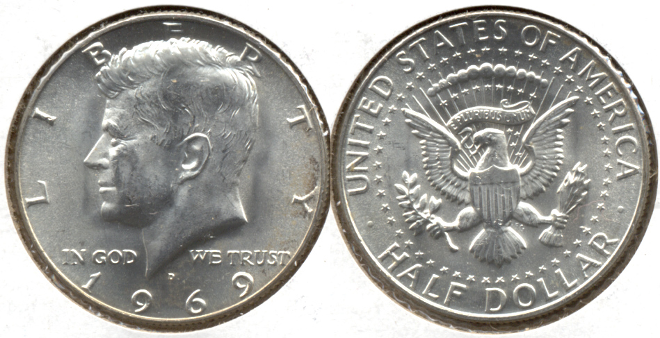 1969-D Kennedy Half Dollar Mint State