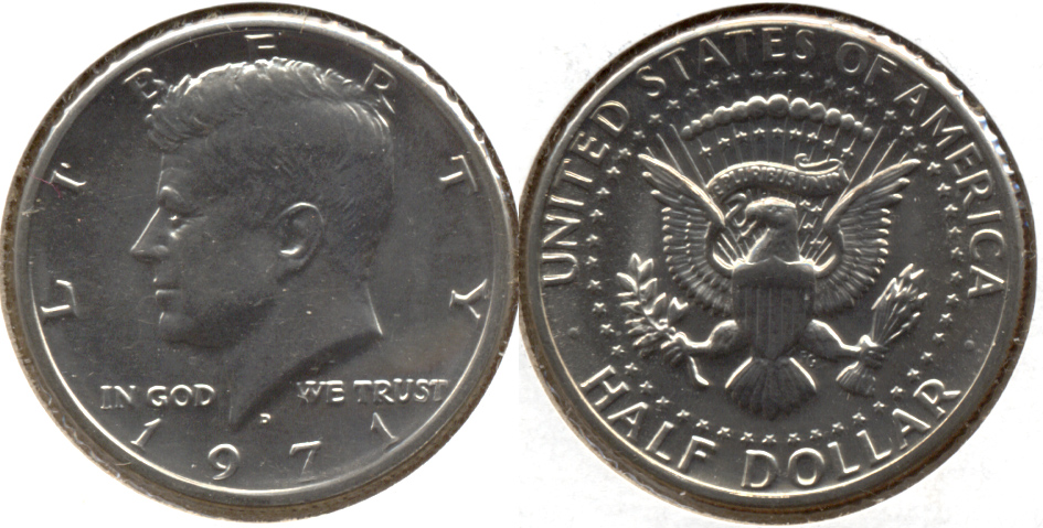 1971-D Kennedy Half Dollar Mint State