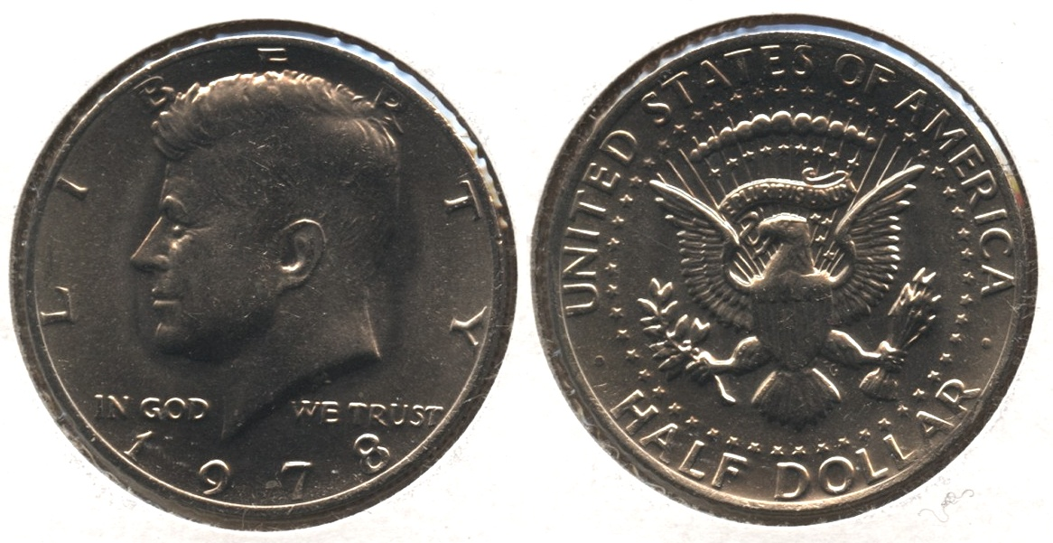 1978 Kennedy Half Dollar Mint State