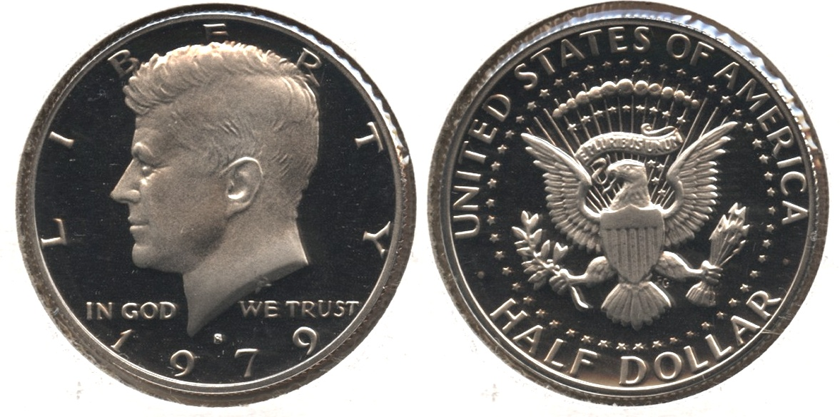 1979-S Type 1 Filled S Kennedy Half Dollar Proof